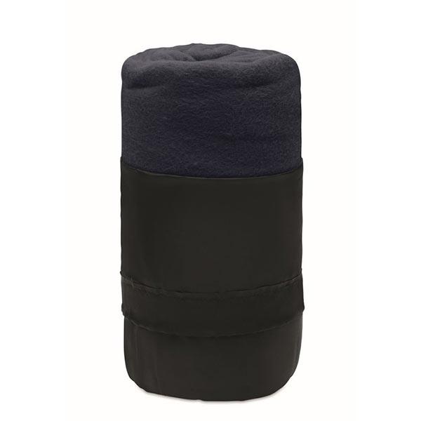 Флисовый дорожный плед из RPET MO9935-04 MUSALA RPET, синий