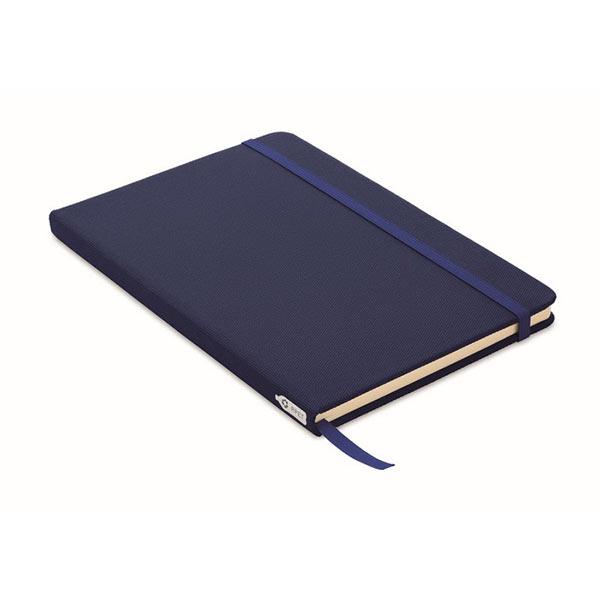 Блокнот A5 из RPET 600D MO9966-04 NOTE RPET, синий