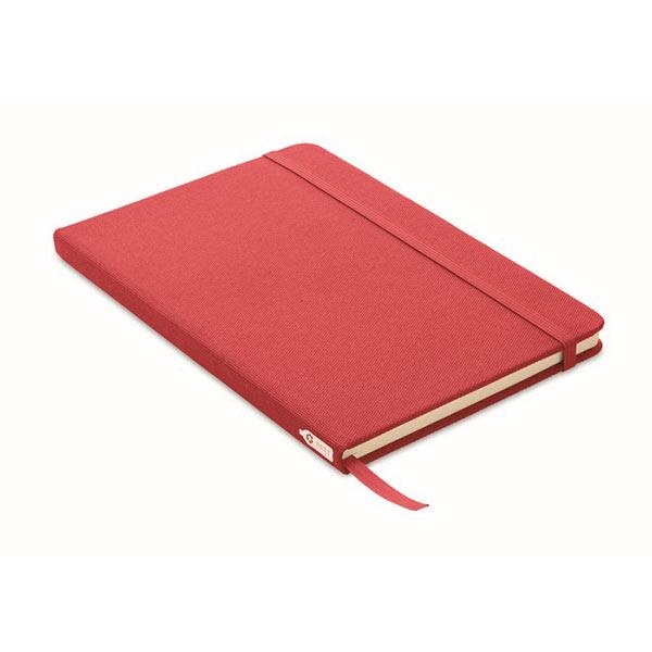 Блокнот A5 из RPET 600D MO9966-05 NOTE RPET, красный