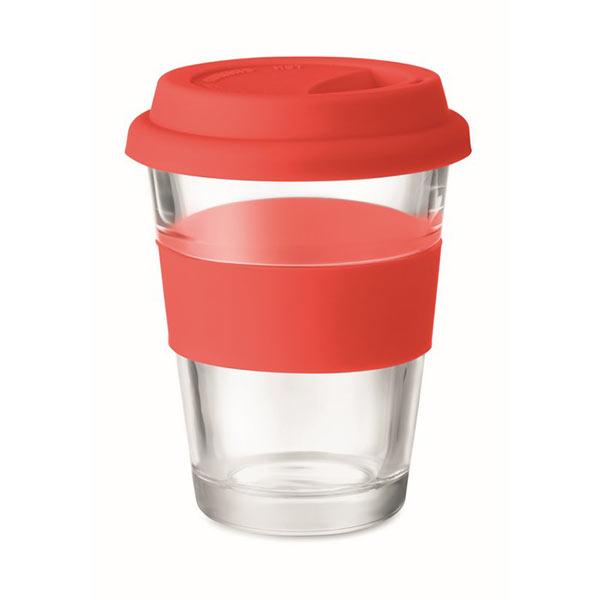 Стеклянный стакан 350 мл MO9992-05 ASTOGLASS, красный