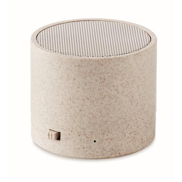 Колонка Bluetooth MO9995-13 ROUND BASS+, бежевый